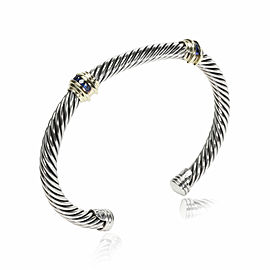 David Yurman Cable Collection Sapphire Bracelet in 14K Gold & Sterling Silver