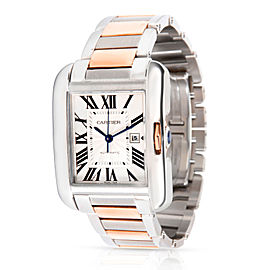 Cartier Tank Anglaise W5310007 Men's Watch in 18kt Stainless Steel/Rose Gold