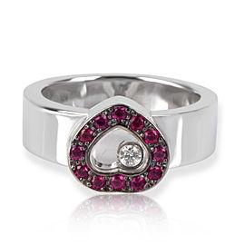 Chopard Happy Diamonds Heart Ring in 18K White Gold 0.02 CTW