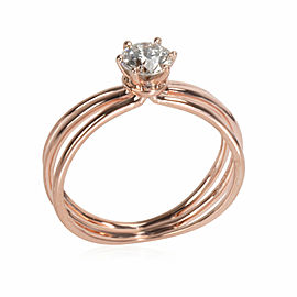 3 Strand Diamond Engagement Ring in 18K Pink Gold H-I VS2-SI1 0.5 CTW