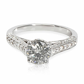 IGI Certified Diamond Engagement Ring in 18K White Gold 1.59 CTW