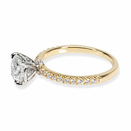 James Allen Diamond Engagement Ring in 18K Yellow Gold GIA F VVS2 1.24 CTW