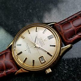 Men's OMEGA 18K Gold Constellation Calendar Automatic 34mm 1960s Swiss LV662