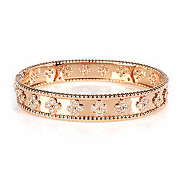 Van Cleef & Arpels Perlee Diamond Bracelet in 18K Rose Gold 1.78 CTW