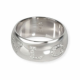 Bulgari Monologo Diamond Ring in 18K White Gold 0.45 CTW