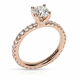 Martin Flyer Diamond Engagement Ring in 14K Rose Gold GIA J VVS1 1.64 CTW