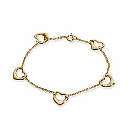 Tiffany & Co. Elsa Peretti Mini Open Heart Bracelet in 18K Yellow Gold