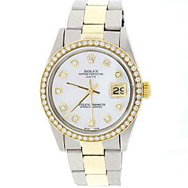 Rolex Date 2-Tone 18K Yellow Gold/Stainless Steel 34MM Automatic Oyster Watch 15