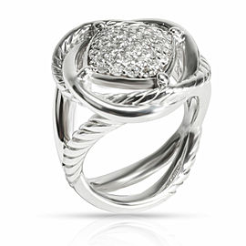 David Yurman Crossover Infinity Diamond Ring in Sterling Silver 0.4 CTW