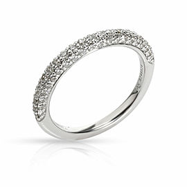 Gabriel & Co. Pave Diamond Wedding Band in 18K White Gold 0.36 CTW