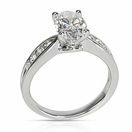 James Allen Oval Diamond Engagement Ring in 18K White Gold GIA D VVS1 1.86 CTW