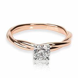 James Allen Diamond Engagement Ring in 14K Rose Gold IGI Certified K VS2 0.72CTW