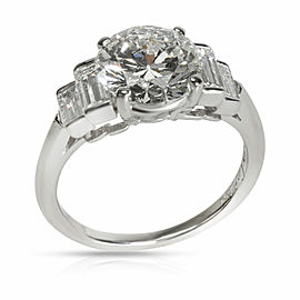 Vintage Cartier Diamond Engagement Ring in Platinum H VS2 3.23 CTW