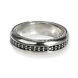 David Yurman Streamline Diamond Men's Ring in Sterling Silver & Titanium