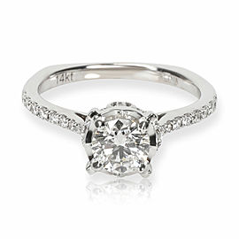 Valina Diamond Engagement Ring in 14K White Gold H-I SI2-I1 0.84 CTW