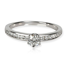Tiffany & Co. Channel Set Diamond Engagement Ring in Platinum G IF 0.52 CTW