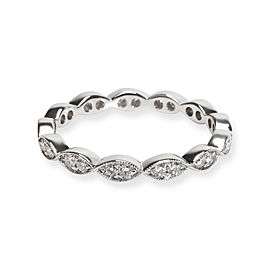 Catherine Ryder Ribbon Diamond Eternity Band in 18K White Gold 0.36 CTW