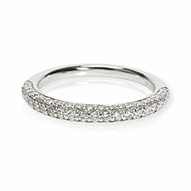 Gabriel & Co. Pave Diamond Wedding Band in 18K White Gold 0.37 CTW