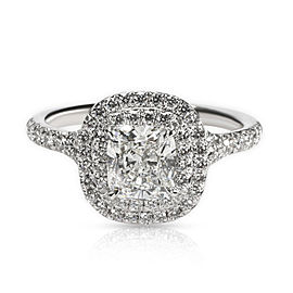 Tiffany & Co. Soleste Diamond Engagement Ring in Platinum G VVS