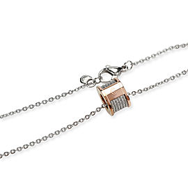 Charriol Forever Necklace in Rose Gold Plated Steel