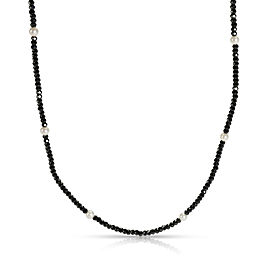 Tiffany & Co. Faceted Black Spinel & Freshwater Pearl in Sterling Silver