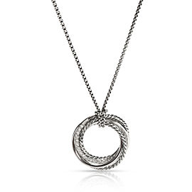 David Yurman Crossover Collection Diamond Necklace in Sterling Silver 0.6 CT