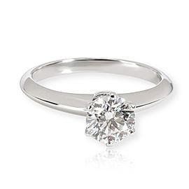 Tiffany & Co. Solitaire Diamond Ring in Platinum G IF 0.92 CTW