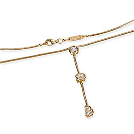 Van Cleef & Arpels Pluie Diamond Necklace in 18K Yellow Gold GIA D VVS1 1 CT