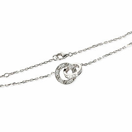 Cartier Love Diamond Necklace in 18K White Gold 0.30 CTW