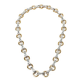 Tiffany & Co. Paloma Picasso X&O Necklace in 18K Yellow Gold/Sterling Silver