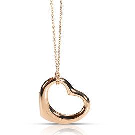 Tiffany & Co. Elsa Peretti Diamond Open Heart Necklace in 18K Rose Gold 2 CTW