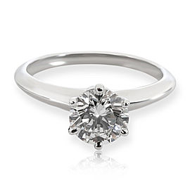 Tiffany & Co. Diamond Solitaire Engagement Ring in Platinum G VVS2 1.17 CTW