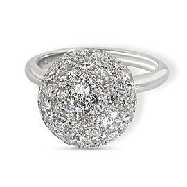 Tiffany & Co. Hardwear Diamond Ball Ring in 18K White Gold 2.99 CTW