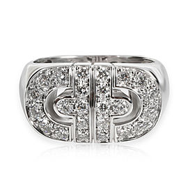 Bulgari Parentesi Diamond Ring in 18K White Gold 0.83 CTW