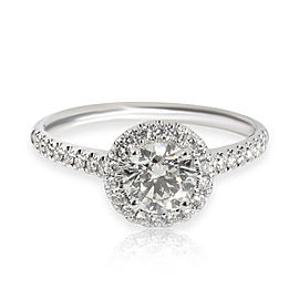 James Allen Halo Diamond Engagement Ring in 14K Gold GIA Certified J VVS2 0.96CT