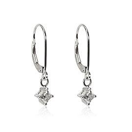 Blue Nile Princess Diamond Dangle Earrings in 14K Gold GIA Certified E SI 0.60CT