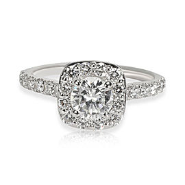 Gabriel & Co. Halo Diamond Engagement Ring in 18K White Gold G SI2 1.18 CTW