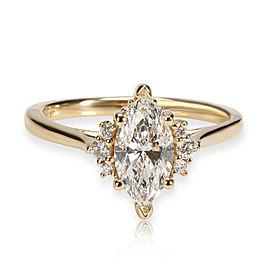 James Allen Diamond Engagement Ring in 18K Gold GIA Certified E VVS2 0.98 CTW