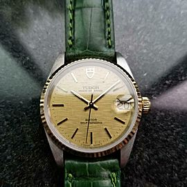 Men's Tudor Prince Oysterdate 32mm 14k & SS Automatic Watch, c.1990s MA157GRN