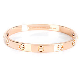 Cartier Love Bangle in 18KT Rose Gold Size 16