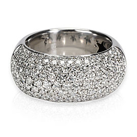 H. Stern Wide Pave Diamond Ring in 18K White Gold 1.89 CTW
