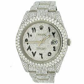 Rolex Datejust 41MM Pave Watch w/23.3CT Diamond Bezel/Lugs/Bracelet/Arabic Dial