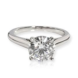 Cartier 1895 Solitaire Diamond Engagement Ring in Platinum E VVS2 1.78 CTW