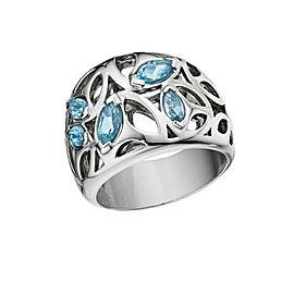 BRAND NEW Di Modolo Blue Quartz Ring in Rhodium Sterling Silver MSRP 475