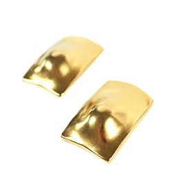 Robert Lee Morris - Clip On Earrings - Matte Gold - Large Long Rectangle