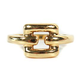 Tiffany - Ring Gold Open Square - 18K Yellow Gold - 750 - Buckle - 7.75