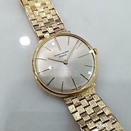 Men's Patek Philippe Calatrava 34mm 18k Hand-Wind Dress Watch, c.1960s MA164