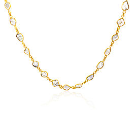 "Rock & Divine Dawn Collection Sun Stream 18"" Necklace in 18K Yellow Gold 5.58ct"
