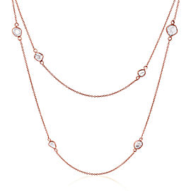 Rock & Divine Dawn Collection Lily Pad Diamond Necklace in 18K Rose Gold 1.6 CTW