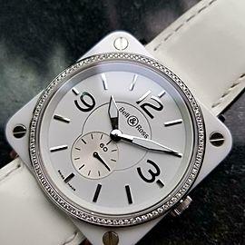 Ladies Bell & Ross Aviation 39mm Quartz Ceramic Diamond Dress Watch, c.2012 GG50